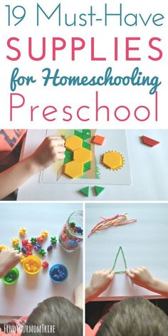 Must-Have Supplies for Homeschooling Preschool - Find Your Mom Tribe