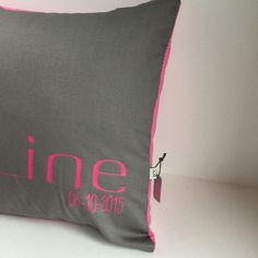 Personalized newborn pillow Home décor nursery baby gift