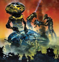 Chris Foss Sci-Fi Art and Illustrations Michael Johnson, Illustrations, Illustration Art, Art Science Fiction, Pulp Fiction, Perry Rhodan, Arte Sci Fi, 70s Sci Fi Art, Alternate Worlds