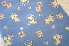 Vintage French fabric  Children's Room by LaManche on Etsy, $15.00