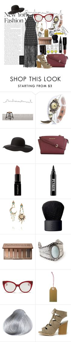 """""""New York New York!!"""" by annacc ❤ liked on Polyvore featuring Garance Doré, Charlotte Russe, MICHAEL Michael Kors, Smashbox, Ardency Inn, Diego Percossi Papi, NARS Cosmetics, Urban Decay, Forever 21 and Miu Miu"""