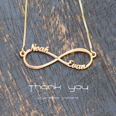 14k gold plated Infinity Necklace by KHandmadeCreations on Etsy, $55.00