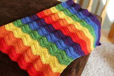 Rainbow Doll Blanket - Crocheting the Day Away
