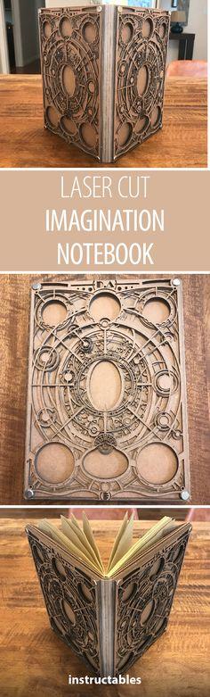 Laser Cut Imagination Notebook #notebook #lasercutter #journaling #journal