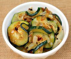 Sauteed Zucchini with Onions and Garlic