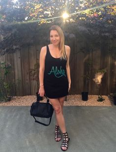 Style blogger Qtee tank galdiator sandals