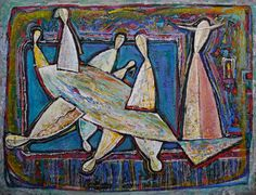 based in Tbilisi since father of the son-artist Revaz Kvaratskheliya Georgia, Father, Artist, Painting, Pai, Artists, Painting Art, Paintings, Amen