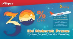 It's Ramadan ! Grab discount 30% from Firefly on Airpaz just for you who wants to   celebrate Eid with family.  Don't miss it! What are you waiting for? Book now! more info : http://ow.ly/g01X300IqAi  #CheapFlights #Promo #Ramadan #Firefly #Airpaz #Travel #Malaysia #Asia #Holiday #Backpacker #Backpacking #Traveling #Vacation #Trip