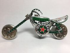 BOTTLE CAP MOTORCYCLE Bike  Upcycled Caps  by TADWOLFCreations