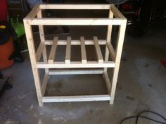 plans for wooden ice chest | took the ice chest out on this one, but it's not necessary. You can ...