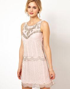 Deco Sequin Shift Dress