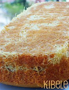tel kadayıflı kek East Dessert Recipes, Cake Recipes, Cooking Time, Cooking Recipes, Pasta Cake, Turkish Recipes, Food Cakes, Food And Drink, Yummy Food