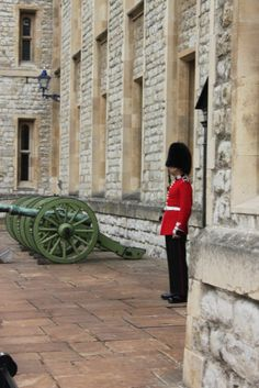 Tower of London Scots Guards Guardsman on Sentry Duty outside the Guardroom