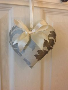 Check out this item in my Etsy shop https://www.etsy.com/listing/260684697/damask-fabric-heart-ornament