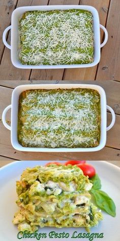 Plan Provision: Chicken PESTO Lasagna...perfect use for our Basil!...