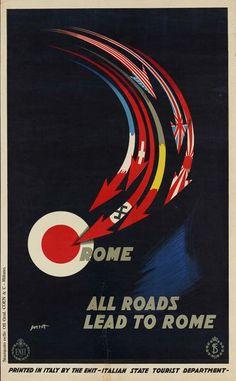 All Roads Lead to Rome um 1938; Severo Pozzati (1895–1983)