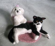 Needle Felted Cat or Dog / Custom Miniature by GourmetFelted