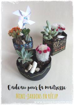 Une idée cadeau pour la maîtresse fait par les enfants : de la récup', des plantes, un peu de déco et le tour est joué. Découvrez le tuto en images !