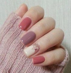 Gorgeous Spring Nail Art Designs Ideas You Must Try 27 Best Picture For spring nails pink For Your T Fall Nail Art Designs, Short Nail Designs, Cute Nail Designs, Nail Designs For Winter, Nail Design For Short Nails, Nail Ideas For Winter, Acrylic Nail Designs Classy, Nail Designs Easy Diy, Neutral Nail Designs