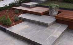 Endicott split stone flooring by Eco Outdoor is a dense, hard-wearing natural stone paver range, perfect for a broad scope of applications. Outdoor Paving, Outdoor Steps, Outdoor Flooring, Natural Stone Pavers, Natural Stone Flooring, Garden Stepping Stones, Paving Stones, Front Door Steps, Front Stairs
