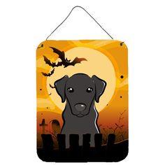 Halloween Black Labrador Wall or Door Hanging Prints, Size: 16, Multi-color