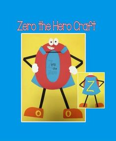 This is a fun craft to help your students learn about the number zero.  It is a zero dressed up like a superhero.All templates and step-by-step directions (with pictures) are included.This craft can also be found in the following packs at a discounted price:Year Long Craft Pack 5Mega Year Long Craft Pack 3Please message me if you have any questions.