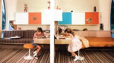 Plastic Fantastic Living -- children's rooms, Disneyland's Monsanto House of the Future, early period.