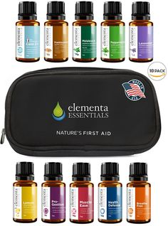 Elementa Essential Oils Set, 15ml, 10 Pack >>> To view further, visit now : Travel Skincare