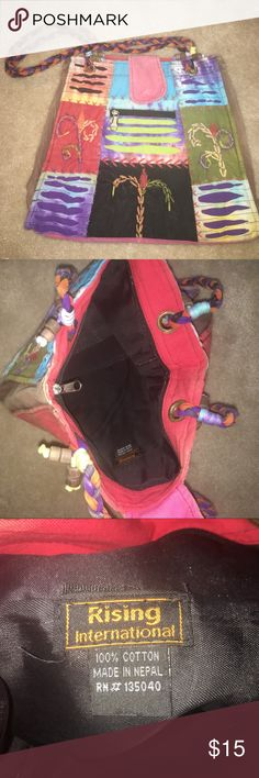 Large multi colored bag Light and large multi colored bag. Perfect for the beach! Never been used perfect condition! Bags