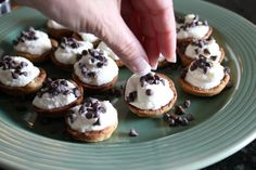 Mini Cannoli Cream Cups...this feels like a christmas party dessert!  could do chocolate cream filling with a lot of variations of toppings!