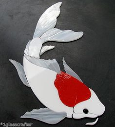 Butterfly koi fish pre cut stained glass art kit mosaic for Koi fish for sell