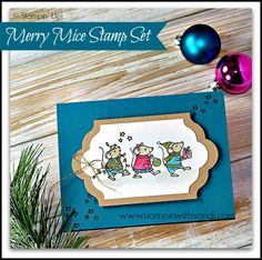 Stampin UP Merry Mice From the Stampin Up Holiday Catalog for Techniques 101 by Sandi @ www.stampinwithsandi.com -