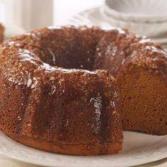 Pumpkin Pecan Rum Cake - Pinner says: just made this for a pumpkin bake-off at work. I really like this recipe! The cake is very moist. I made an extra batch of the glaze to serve on the side.