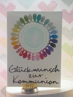 zur Kommunion 5/10  #memorybox #stencil #distressink #inkystamp #rainbow #papersmooches