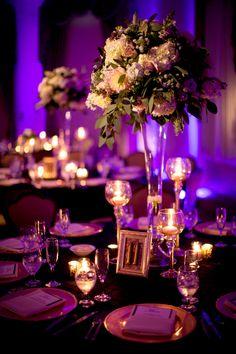 purple reception | Purple Reception Lighting Pictures
