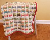 I love this fabric from Spoonflower! $106.00, via Etsy.