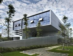 Contemporary Office Building That Make Impressive: Trendy Office Exterior Floating Building For 2015