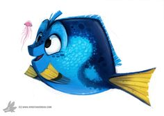 Daily Painting 758. Dory by Cryptid-Creations.deviantart.com on @DeviantArt