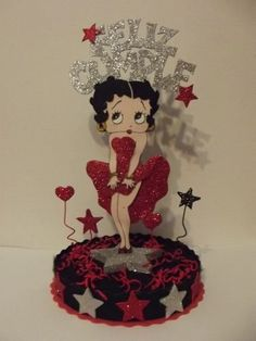 Resultado de imagen para betty boop cumpleaños decoracion Masquerade Centerpieces, Balloon Centerpieces, Wedding Centerpieces, Betty Boop Birthday, Happy Birthday, Adult Crafts, Diy And Crafts, Imagenes Betty Boop, Betty Boop Cartoon