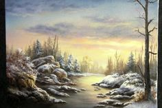 Do you enjoy painting sunsets but for some reason the colors don't seem to blend well with each other? Watch Kevin show you how to paint this snowy sunset scene and learn how to blend the sky with ease! For more information about oil paint, please visit: www.paintwithkevin.com