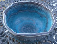 Squared bowl with multiple glazes