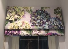 A stunning roman blind in our Sudara floral print, Bev Slade-Bespoke Curtains and blinds