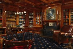 One must have a built in library within one's Victorian mansion!