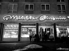 Penguin Milkbar. Love this retro Milk Bar in Leipzig!