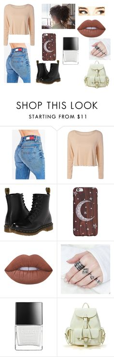 """docs"" by sheatheunicorn on Polyvore featuring Tommy Hilfiger, Dr. Martens, Lime Crime and Butter London"