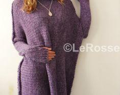 Oversized/Slouchy/Loose knit sweater. Chunky knit sweater. Alpaca women sweater.