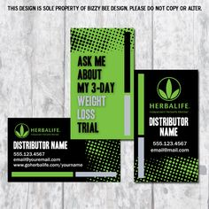 Herbalife Business Card  Digital Download by BizzyBDesign on Etsy