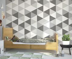 "Tapeta Hexagons - kolekcja ""Geometric"" w Humpty Dumpty Room Decoration na DaWanda.com"
