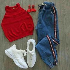 Girls Fashion Clothes, Teen Fashion Outfits, Retro Outfits, Outfits For Teens, Preteen Fashion, Style Clothes, Fashion Fashion, Latest Fashion, Girl Outfits