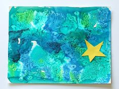 How to Catch a Star by Oliver Jeffers is one of our favorite children's books. We were inspired by the beautiful illustrations in the story to create this watercolor ocean and star art for kids! Kindergarten Art, Preschool Art, Preschool Themes, Art Activities For Kids, Art For Kids, Space Activities, Kid Art, Toddler Activities, Watercolor Books
